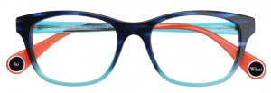 WOOW glasses in blue