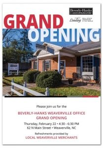 Grand Opening of Main Street Weaverville Real Estate Office